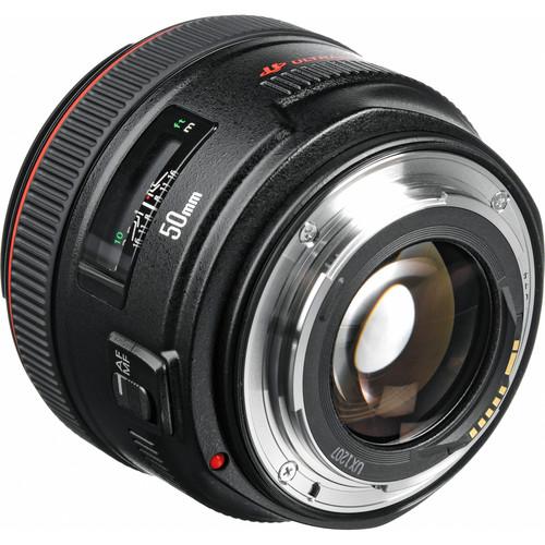 Canon 50mm F1.2L back angle