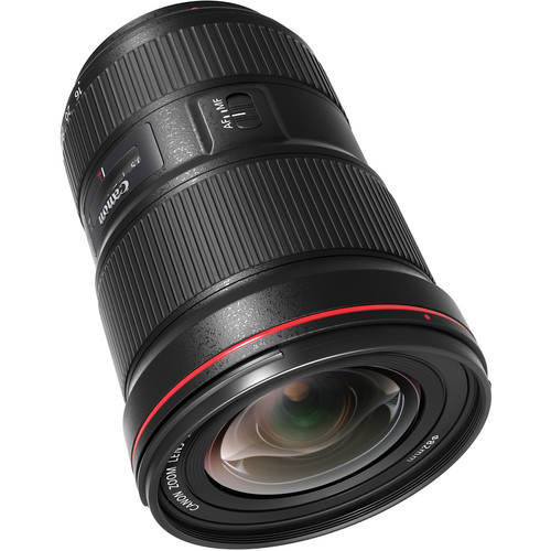 Canon 16-35mm F2.8L III front angled